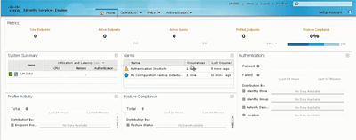 cisco ISE 1.2 GUI
